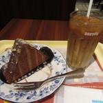 ドトールコーヒーショップ - ルーフチョコレート、アイスカフェラテ