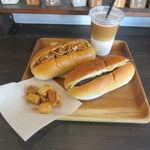 大平製パン - 焼そばコッペ、あんこ&マーガリンコッペ、アイス・カフェオレ、ラスク付き