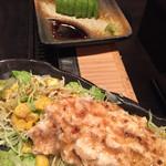 もんじゃ 麦 - ツナコーンサラダ ¥350