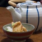 すてーき家 吉在門 - 2015.11 活ふぐの天麩羅茶漬け
