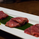 すてーき家 吉在門 - 2015.11 極旨とろけるホットな肉のお造り