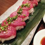 44315086 - 桜肉にぎり寿司