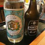 ホルモン 良ちゃん - キンミヤ焼酎にホッピー
