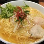 44316896 - あら炊き塩らぁめん(大盛り)+水菜