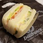 デリフランス - エビアボカド&ハムチーズ(370円)