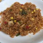 ル・シエール - ジャンバラヤ 胡椒が一杯入っているような辛さ、食べていくうちにどんどん辛くなる。辛いものが好きな方ならオススメです。