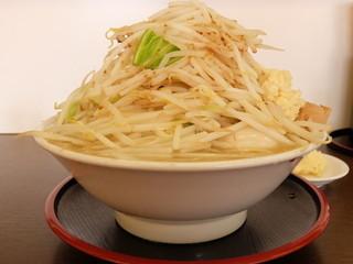麺屋 元 - 元ラーメン大盛+野菜ニンニク
