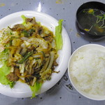 大衆食堂むつみ - 日替わり「牛焼肉ピリ辛」