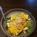 鉄板ダイニング夢元 - オマールの出汁を使ったソースのサラダ