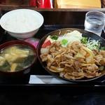 Kashiwaya - しょうが焼き定食(700円)