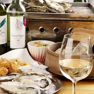 牡蠣にはやっぱりワイン♪