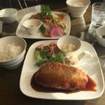 44341369 - 2015年11月。会津のソースカツとチキン南蛮。