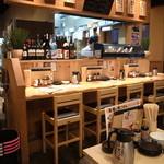 天ぷら海鮮 五福 - カウンター席もご用意しておりますのでひとり様でもお気軽にどうぞ♪
