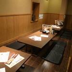 天ぷら海鮮 五福 - 2階個室は16名様。