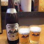 四川家庭料理 珍々 - 瓶ビール(中)¥550