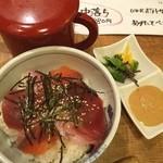 魚や一丁 - 鮮魚のゴマだれ茶漬け(^_^)