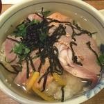 魚や一丁 - まずはゴマだれ無しで!柚子が効いていてこれでもOKです(^_^)