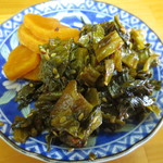アサヒ食堂 - 無料の高菜と漬物