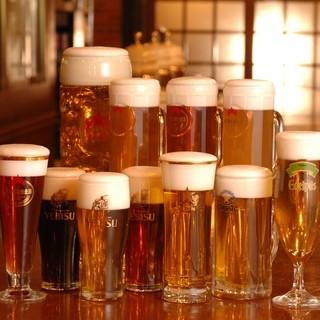 当店でしか飲めない地ビールなど、ビールが全11種類♪