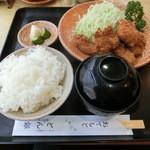 とん銀 - ひれかつ定食1000円