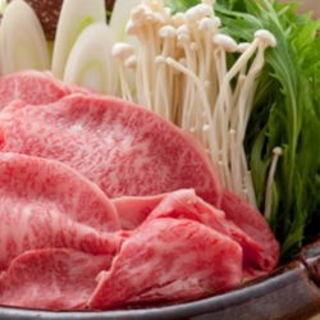 黒毛和牛と牛もつの味噌白湯鍋