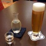 人形町今半 - 2015/11 生ビールと冷酒