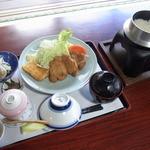 喜古里 - 但馬ポークとんかつ定食(1,200円)