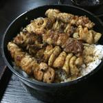 小金家 - 焼き鳥丼定食 700円 アップ