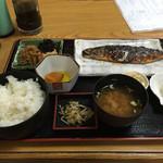 かちどき食堂 - サバの塩焼き定食¥600(通常価格¥750)