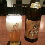 44373049 - 料理 中瓶ビール 600円 (2015年11月)