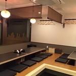 寿司居酒屋 平八郎 - 6人掛けの座敷(掘りごたつ)が3席