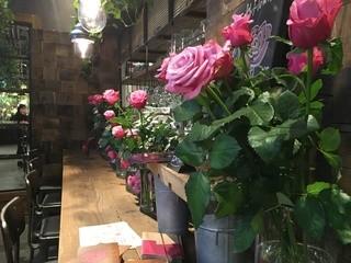 青山フラワーマーケット ティーハウス 赤坂Bizタワー店 - カウンター席に並ぶ、バラ♪