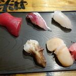 立ち寿司 - 2015.11 セットの5貫