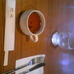 レストラン アーサー - 日替わりランチのカップスープ(わかめのコンソメ味)