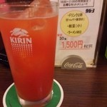 44385736 - □セットメニュー 1500円(外税)□の一杯目のトマトサワー。しっかりとした味。