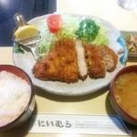 Niimura - 黒豚ロースかつ(小鉢付)定食2,500円