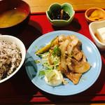 soto - 生姜焼き定食 750円