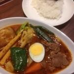 カレー食堂 心 - 14種野菜のスープカレー+ラム