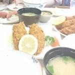 かご平 - 20150523 アジフライ定食とエビフライ