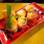 ライノスキッチン - 生ハムとなますの生春巻き ¥680