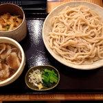 どん太 - 肉汁うどん780円とミニ天丼のかき揚げ丼200円