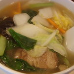 444308 - 米素多奈弼さん こちらは薬膳スープかけご飯です、具が多いですね