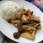 44409211 - 牛肉ポテトとトマト炒め                       (Lomo saltado)
