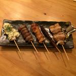 博多焼きとりヤマト - 串5本盛り