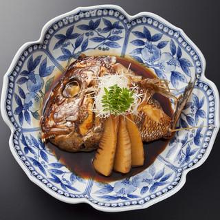 天然鯛のあら煮