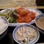 44420374 - エビチリ定食★