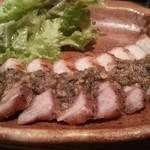 あふろ - 豚バラの炭火焼き  タプナードソース
