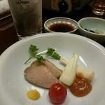 寿司の小林 - 鴨とエシャロットの洋風皿