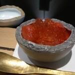 日本料理 晴山 - (2013年4月)イチゴと和三盆のプリン