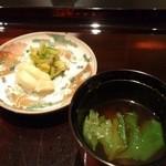 日本料理 晴山 - (2013年4月)お漬物とお味噌汁